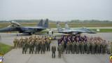 """Американски изтребители F-15 E тренират с наши военни на учението """"Castle Forge - 2021"""""""