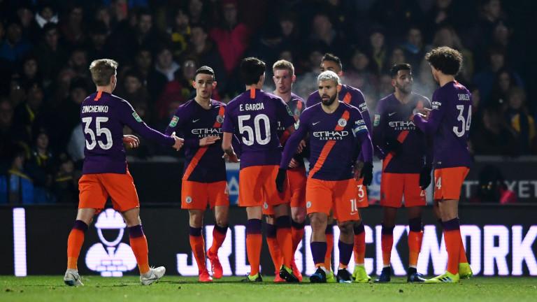 Манчестър Сити победи за втори път Брайтън в полуфиналите за