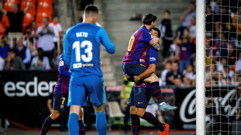Барселона с Меси и Суарес срещу Еспаньол