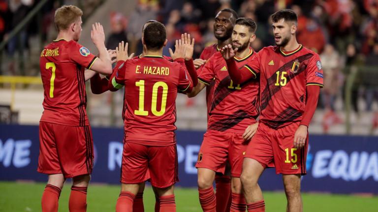 Белгия завърши квалификациите за Евро 2020 с пълен актив от