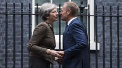 """Няма """"достатъчен напредък"""" в преговорите за Брекзит, обяви Туск в Лондон"""