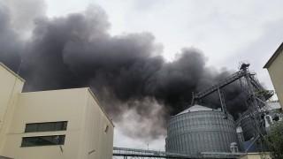 Голям пожар избухна в хранителен завод в Катуница