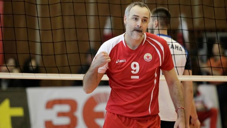 Капитанът на волейболния ЦСКА, Ивайло Стефанов навършва днес 44 години.