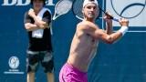 Григор Димитров тренира гол до кръста в Атланта