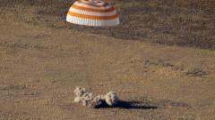 """Капсулата """"Союз"""" върна успешно на Земята трима членове на МКС"""