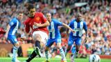 Юнайтед прегази Уигън за едно полувреме