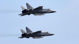 Въздушен дуел между изтребители МиГ-31БМ заснет на видео