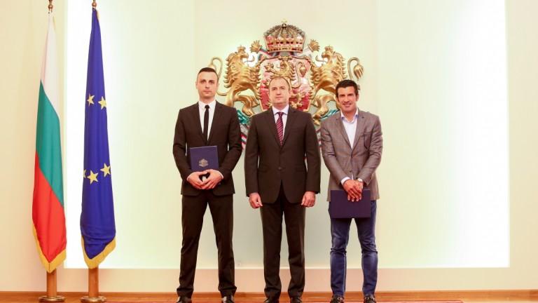 Бербатов и Фиго получиха почетния знак на Президента на Република България