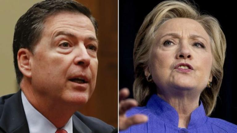 """Обвиниха шефа на ФБР, че е нарушил закона, """"погвайки"""" Клинтън"""