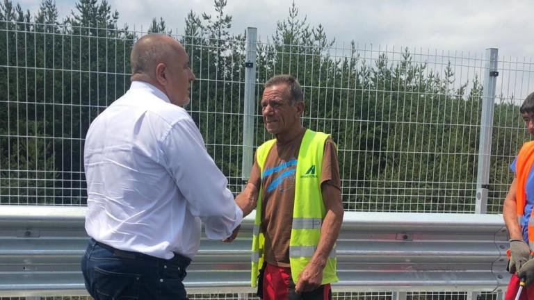 Министър-председателят Бойко Борисов инспектира ремонтите по трите моста на магистрала