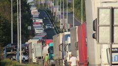 15 км е опашката от тирове на ГКПП Дунав мост при Русе