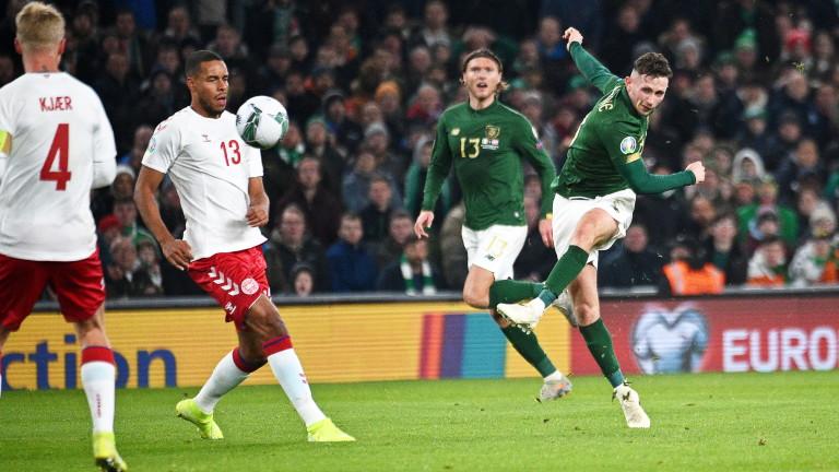 Ирландия и Дания не се победиха, завършвайки 1:1 в мач