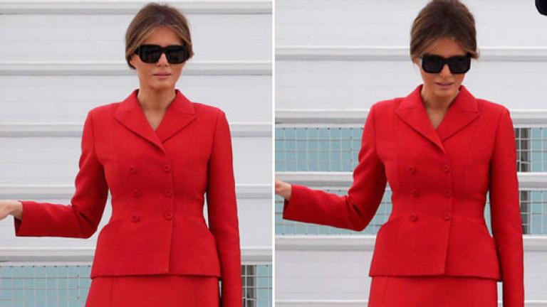 "Мелания Тръмп: ""Lady in red!"" (СНИМКИ)"