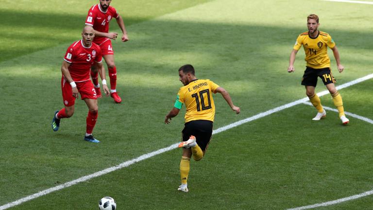 Белгия се саморазправи с Тунис с 5:2