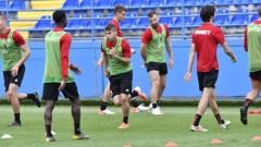 ЦСКА с официална тренировка в Подгорица