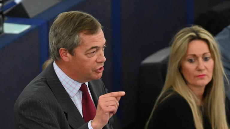 Британският евроскептик Найджъл Фараж обвини номинираната за председател на Европейската