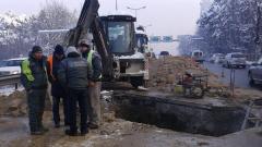 """Отстраниха аварията на магистралния водопровод при алея """"Яворов"""""""