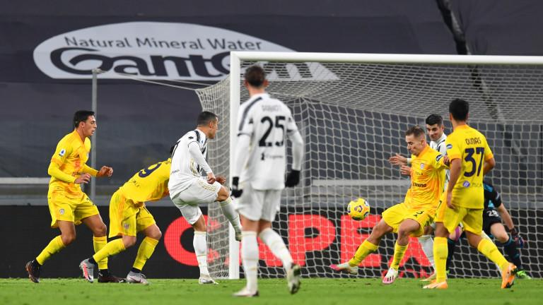Ювентус победи Каляри с два гола на Кристиано Роналдо
