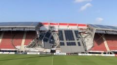 Част от стадиона на АЗ (Алкмаар) рухна