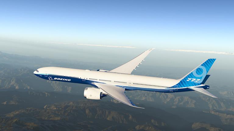 Boeing с първи полет на новия модел 777-9