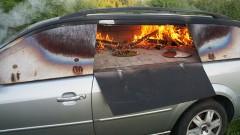 Как да изпечем пица в колата