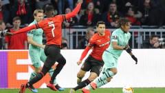 Рен - Арсенал, 3:1 (Развой на срещата по минути)