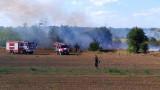 Пожарите в Хасково са под контрол, но хиляди декари са изгорели