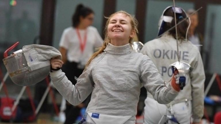 Младата надежда на българската фехтовка Йоана Илиева грабна брознов медал