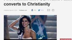 """Първата мюсюлманка, спечелила титлата """"Мис САЩ"""", прие християнството"""