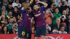 """Човекът-отбор с нов хеттрик за Барселона, Бетис попилян на """"Бенито Виямарин"""""""
