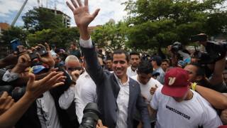 """Гуайдо """"скочи"""" на правителството заради блокадата на Конгреса"""