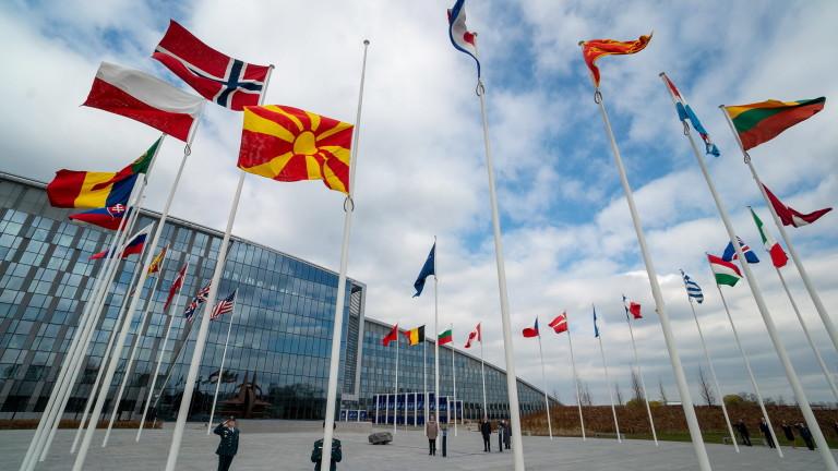 Знамето на Северна Македония вече се вее гордо като член