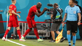 Ромелу Лукаку посвети гола си срещу Русия на Кристиан Ериксен