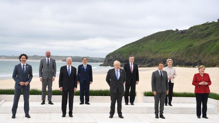 Лидерите на Г-7 приеха програма за възстановяване на света от кризата