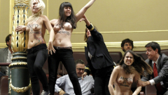 Протестираха срещу абортите в испанския парламент