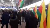 Масов бой на летище в Хановер заради военна операция на Турция в Сирия