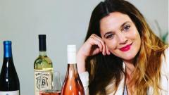 Дрю Баримор поля развода с вино
