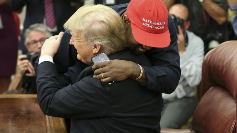 Тръмп уверен в успеха на Кание Уест за Белия дом през 2024 година
