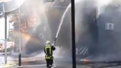 Пожар затвори ГКПП Златарево