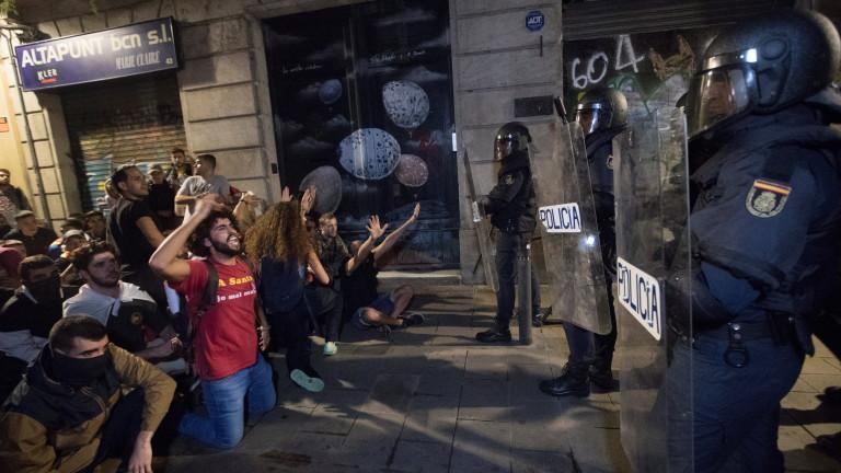 Десетки ранени след протестите в Барселона