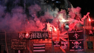 Ултраси на Ботев и Локо се биха в центъра на Пловдив