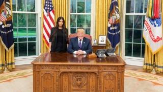 Ким Кардашиян на гости на Доналд Тръмп