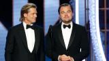 Брад Пит, Леонардо ди Каприо, Златен глобус 2020 и как актьорът се пошегува с колегата си и любовния си живот
