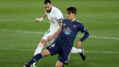 Реал (Мадрид) - Селта 2:0 (Развой на срещата по минути)