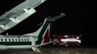 """Силен вятър """"изхвърли"""" самолет от пистата при кацане в Рим"""
