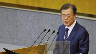 Сътрудничеството с Русия е ключово за мир на Корейския полуостров, обяви Мун Дже-ин в Москва