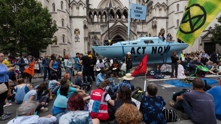 Климатични активисти от