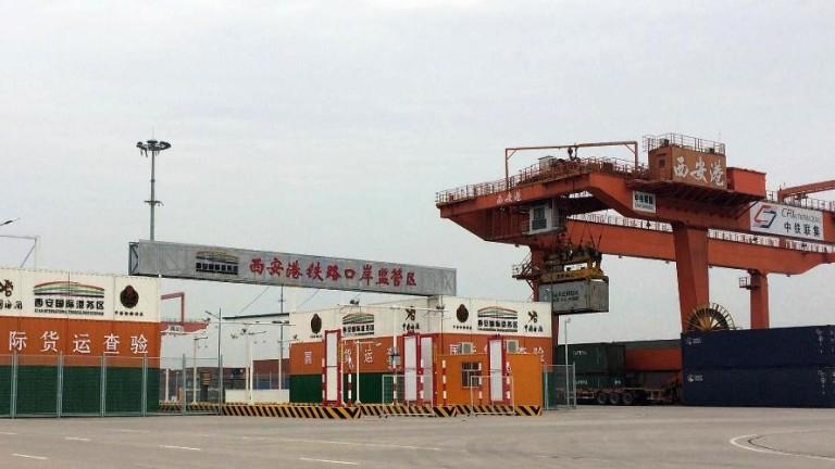 Контейнерният терминал на Сиан