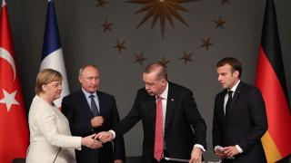 Макрон и Меркел звъннаха и на Ердоган за среща с Путин за Сирия