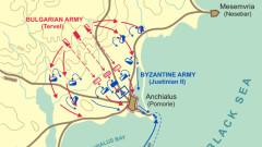 Великите военни изцепки: Битката при Анхиало (708 г.)